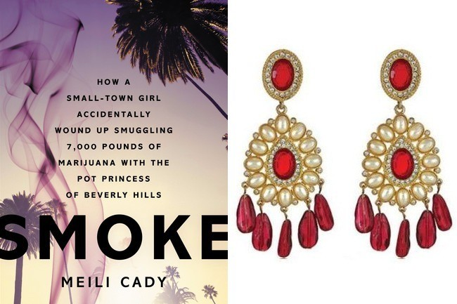 Kenneth Jay Lane Ruby Globetrotter Earrings, $220, at hauteheadquarters.com