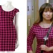 Jenna Ushkowitz's Hot Pink Houndstooth on 'Glee'