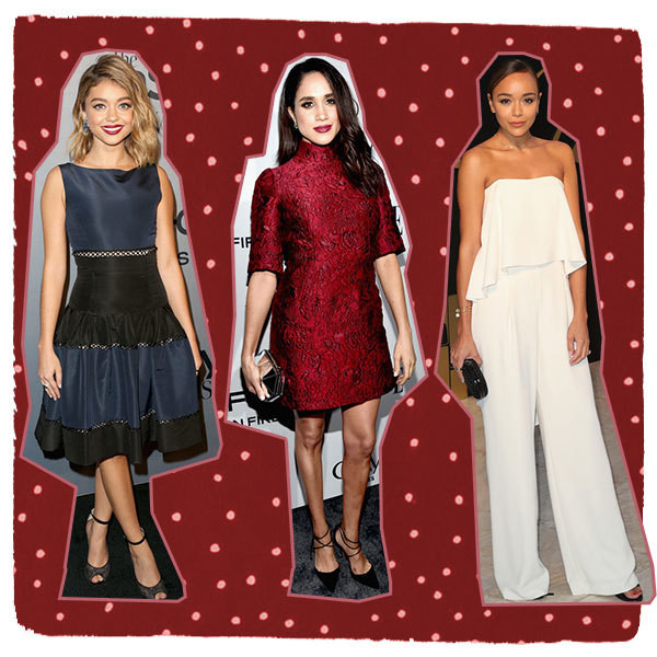Celebrity-Inspired Holiday Office Party Outfits We Love