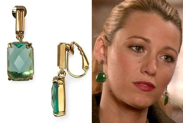 Blake Lively's Green Earrings on 'Gossip Girl'