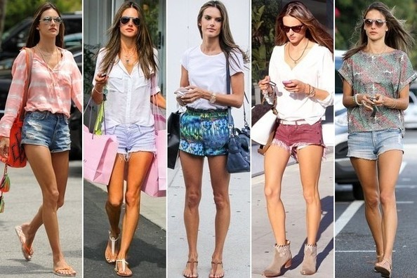 Alessandra Ambrosio Really Loves Short Shorts