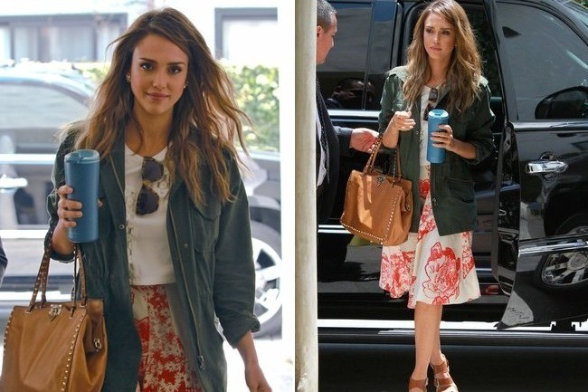 Jessica Alba's Casual Sunday Outfit