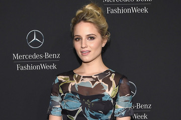 Look of the Day: Dianna Agron's Printed Dress