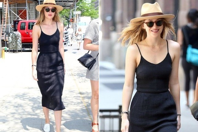 Look of the Day: Dakota Johnson's Midi Dress