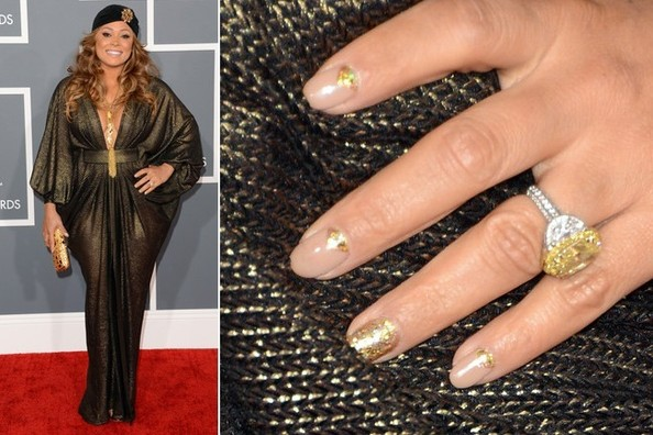 Tamia's Nail Art at the 2013 Grammy Awards