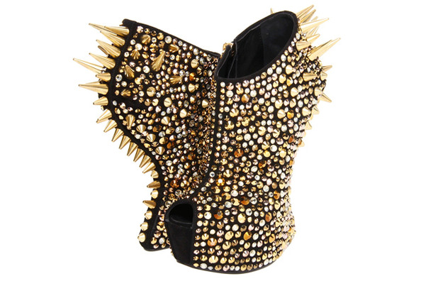 Giuseppe Zanotti's Gold Spiked Ankle-Boots