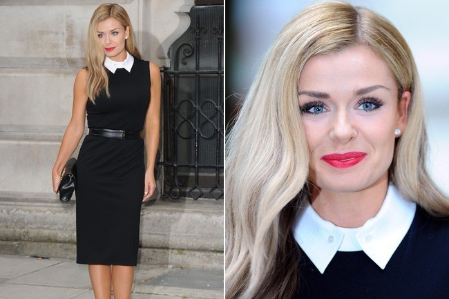 Katherine Jenkins' Cool Collared Dress