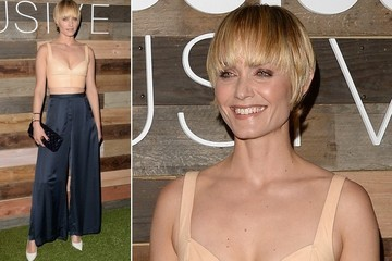 Amber Valletta's Sustainable, Wide-Legged Chic