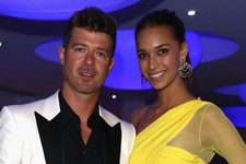 Robin Thicke and April Love Geary Welcome Baby Mia Love