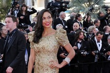 Rosario Dawson Glows Golden at Cannes