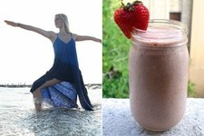 Try This Cleansing Strawberry Smoothie Recipe From The Blonde Vegan