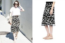 Found: Lily Collins' Floral Skirt