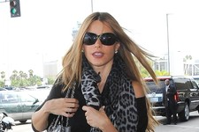 Sofia Vergara Catches a Flight