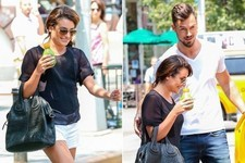 Lea Michele Steps Out with Her Man