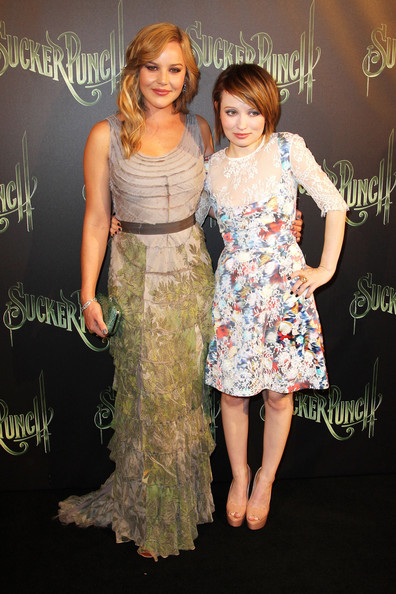 Emily Browning and Abbie Cornish at the Premiere of 'Sucker Punch'