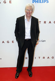 Richard Gere showed his classic style with a black suit at the 'Arbitrage' premiere in Amsterdam.