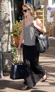 Ali Larter looked effortlessly chic on a shopping trip in LA wearing a loose jersey maxi skirt.