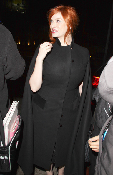More Pics of Christina Hendricks Cape (1 of 6) - Christina Hendricks Lookbook - StyleBistro