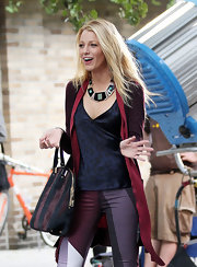 Who said lingerie is only for the bedroom? Not Blake! She rocked this slinky animal-print silk camisole on the set of 'Gossip Girl.'