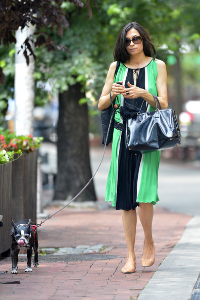 More Pics of Famke Janssen Patent Leather Tote (1 of 4) - Famke Janssen Lookbook - StyleBistro