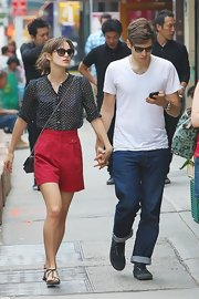 Keira Knightley is probably the only girl in the world who can pull off a pair of shorts like these.