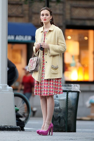 More Pics of Leighton Meester Tweed Jacket (1 of 15) - Leighton Meester Lookbook - StyleBistro