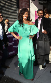 Wendy Raquel Robinson channeled a boho vibe with a flowy mint maxi dress.