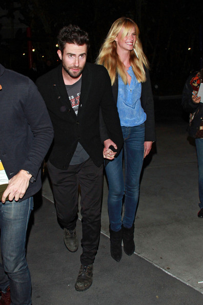Anne V got a boost from a pair of black suede ankle boots.