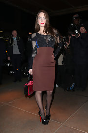 Alexa Ray Joel added just a touch of edge and sexiness to her evening look with this fitted mesh top.