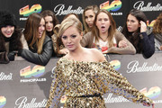 Alexandra Stan Off-the-Shoulder Dress