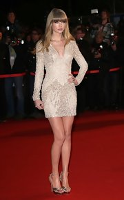 Taylor Swift showed off some seriously long gams in this gorgeous leggy look at the NRJ Music Awards in Cannes.