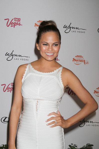 More Pics of Chrissy Teigen Bandage Dress (5 of 9) - Chrissy Teigen Lookbook - StyleBistro