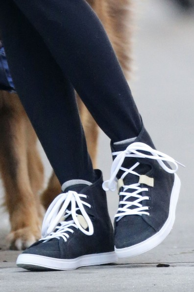 Amanda Seyfried Leather Sneakers