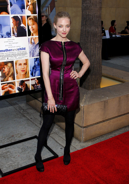Amanda Seyfried Leather Clutch