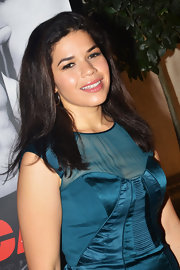 America Ferrera wore a glossy pink lipstick at the after party for 'Chicago.'