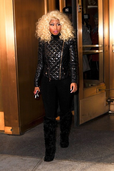 More Pics of Nicki Minaj Over the Knee Boots (2 of 18) - Over the Knee Boots Lookbook - StyleBistro