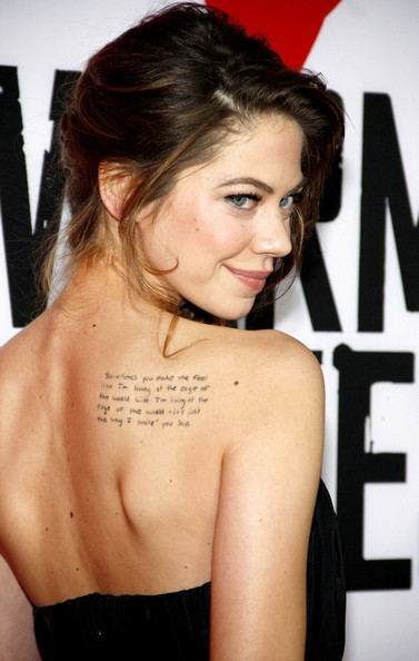 Analeigh Tipton Lettering Tattoo