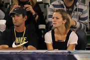 Brooklyn went tribal with it at Andy Roddick's tennis match in an arrow-head pendant necklace.