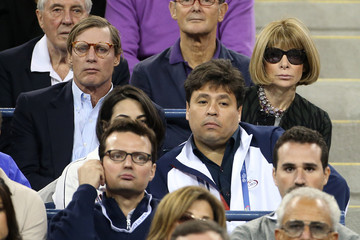 Anna Wintour Shelby Bryan Celebs Catch a Tennis Game During the US Open