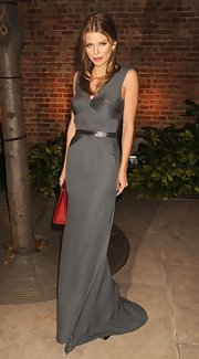 AnnaLynne put on the glamour in this gray gown at the Somaly Mam Foundation Gala.