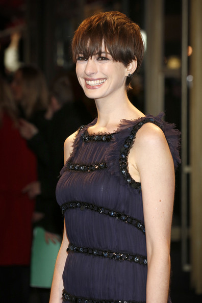 More Pics of Anne Hathaway Short cut with bangs (1 of 13) - Short cut with bangs Lookbook - StyleBistro