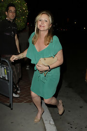Kathy Hilton wore a simple yet chic green dress to the Lia Sophia Industrielle collection launch.