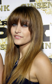 Paris Jackson looked very trendy with this face-framing long straight 'do at the Mr. Pink party.