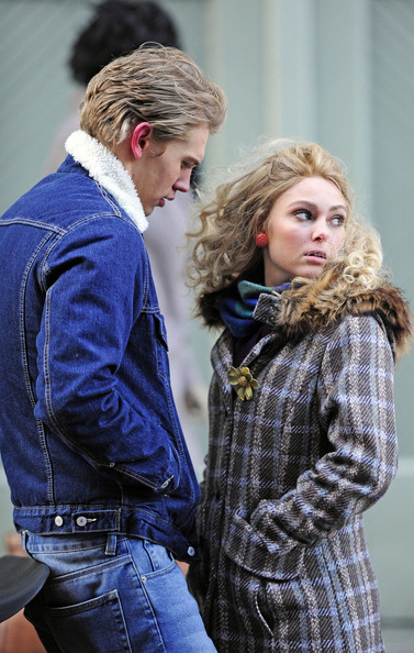 AnnaSophia Robb and Austin Butler on Set in NYC