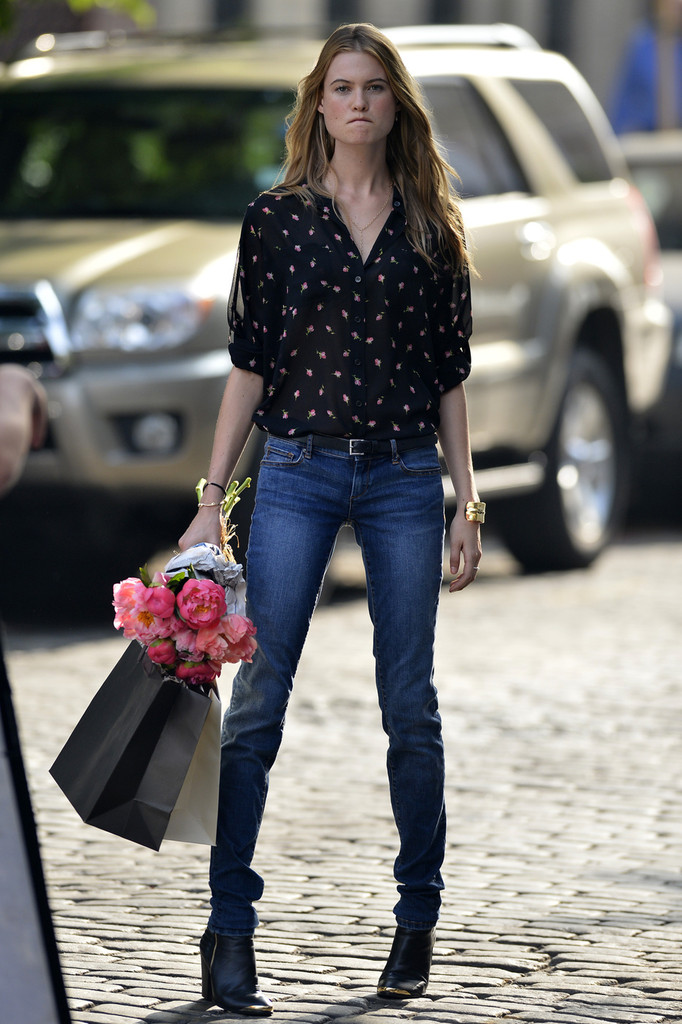 More Pics Of Behati Prinsloo Denim Jacket 13 Of 15 Fashion Lookbook Stylebistro