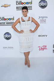 Nelly Furtado looked ready for summer at the 2012 Billboard Music Awards wearing a crisp white crocheted and beaded dress.