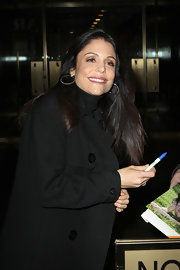 Bethenny Frankel added a touch of soft rose lip color for an appearance on the 'Today' show.
