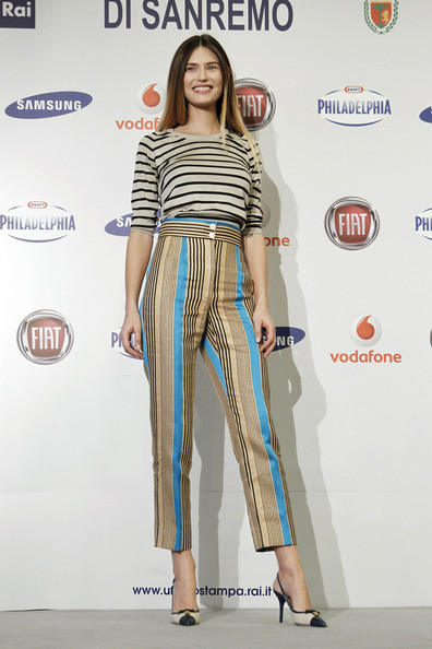 Bianca Balti High-Waisted Pants