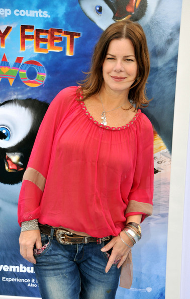 Marcia Gay Harden unleashed her boho chicness by wearing stacked-up bangles with her loose chiffon top at the movie premiere.