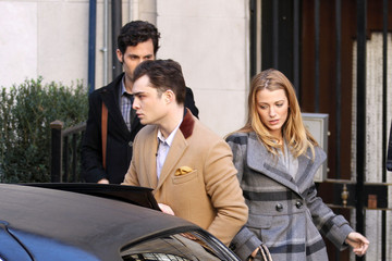 Blake Lively Ed Westwick Blake Lively and Penn Badgley Film Scenes with Ed Westwick